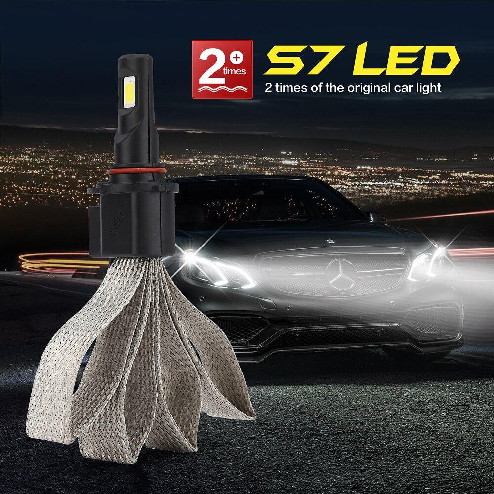 2PCS S7 LED light for high beam low beam 880 881 H1 H3 H4 H7 H11 H13 9004 9005 9006 9007 led headlight in Car Headlight Bulbs LED from Automobiles Motorcycles