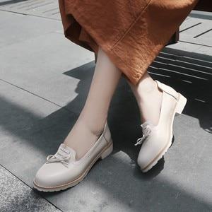Image 5 - Grande taille 11 12 dames talons hauts femmes chaussures femme pompes simple chaussure décontracté chaussures peu profonde à tête ronde femme