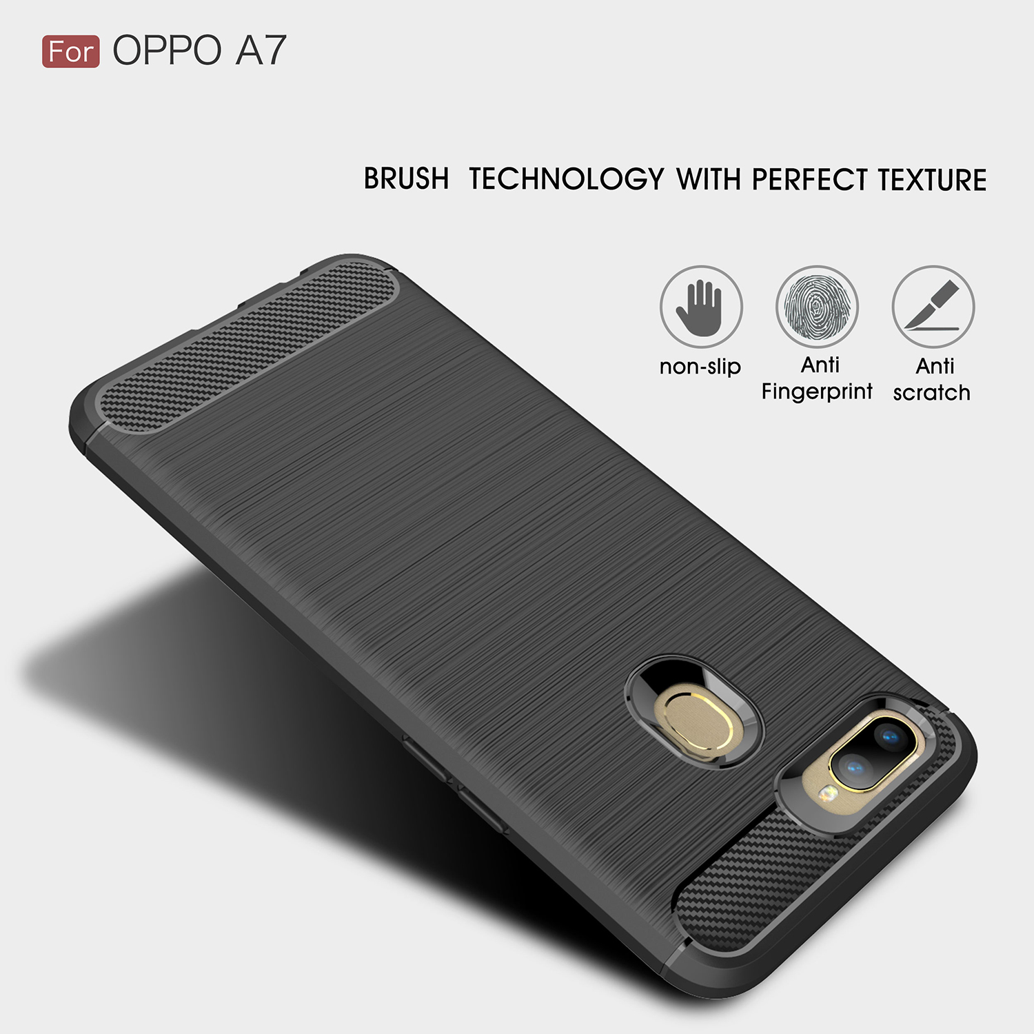 For OPPO A7 Case Soft TPU Silicone Bumper Shockproof Anti knock Phone Case For OPPO A7 Cover For OPPO A7 Funda 6 2 inch BSNOVT in Fitted Cases from Cellphones Telecommunications