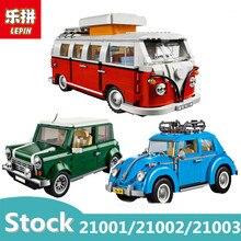 Lepin 21001 21002 21003 blocos de construção Do Carro Técnica Legoing Compatível 10220 10252 10242 designer de modelo de blocos para crianças