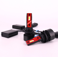 1 Set 9006 HB4 F3 Car LED Headlight Bulbs 90W 10000LM G XP Chips Dual Turbo Fan 6K White Car Front Lamps Exceed Bright Cutting