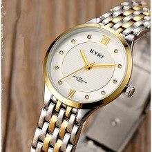 Amantes EYKI Marca de Lujo Relojes de Las Mujeres de la Aleación Reloj de Pulsera de Cuarzo Ocasional Relojes Hombres Relogio masculino Diseñador Reloj Montre