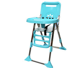 Protable Baby Kids Feeding Chair Multi-function Foldable Adjustable Baby Eating Dining Table Chair Seating For Feeding(China)