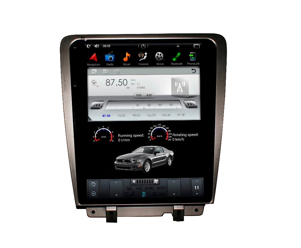 Tesla stile ISP Dello Schermo di Android 7.1 6.0 Car DVD Player GPS di Navigazione Schermo della Radio Per Ford Mustang 2010 2011 2012 2013 2014