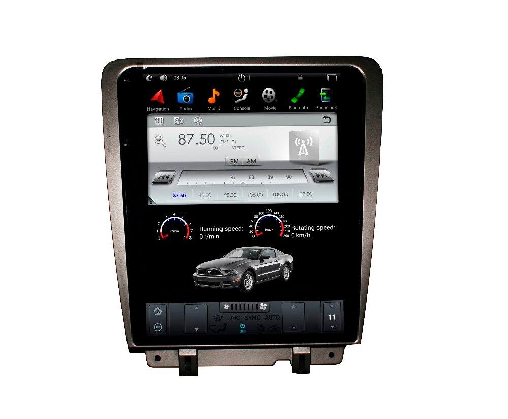 Tesla style FAI Écran Android 7.1 6.0 Voiture Lecteur DVD GPS Navigation Radio Écran Pour Ford Mustang 2010 2011 2012 2013 2014