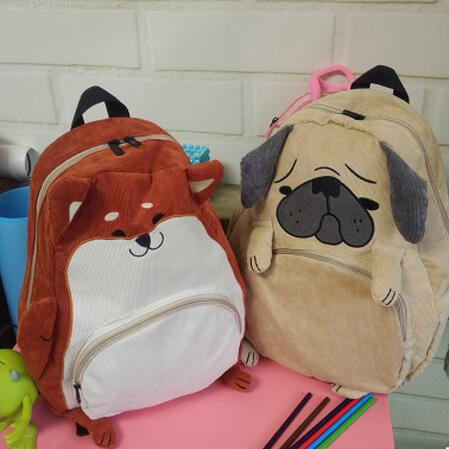 cute cartoon animals backpack school bags for girls larger capacity canvas backpack high school students bag