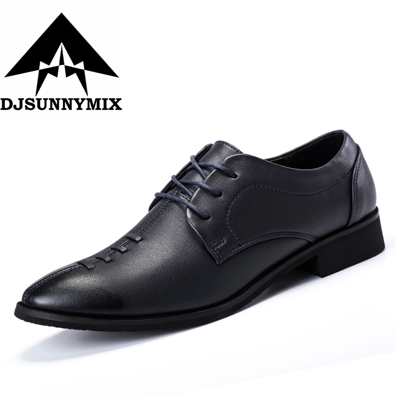 Luxury Brand Shoes Italian Style Men Dress Wedding Shoes Men's Business Oxfords Formal Flats Shoes Leather Derby Blue Black 2017 fashion italian luxury brand formal mens dress shoes genuine leather wedding shoes crocodile men flats office oxfords shoes