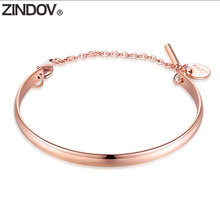 Женский браслет из нержавеющей стали zindov розового золота