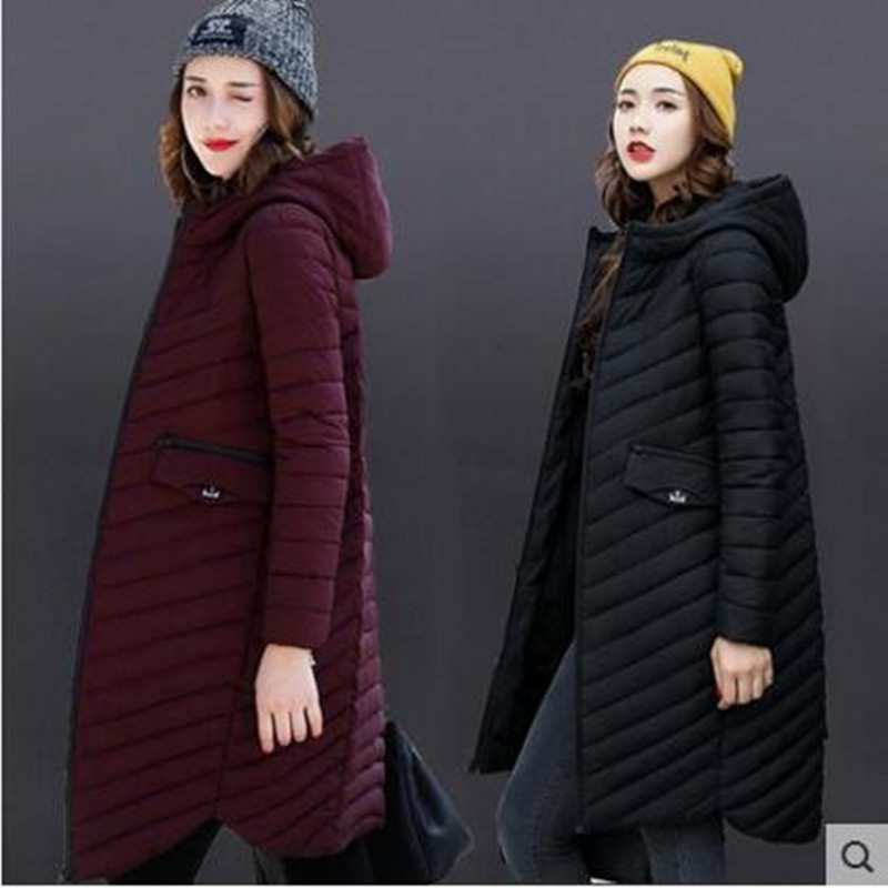 2019 womens winter Cotton and coats women High Quality Warm Female thickening Warm   Parka   Hood Over Coat