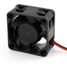 GTFS- черный пластик 12 В DC 40 мм 20 мм 2 провода компьютер PC процессор Охлаждающий вентилятор в корпусе