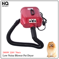 2800W 220V Low Noise Blower Pet Dryer To Dogs Big Dog Dryer Wind speed 78m/s A22 2300