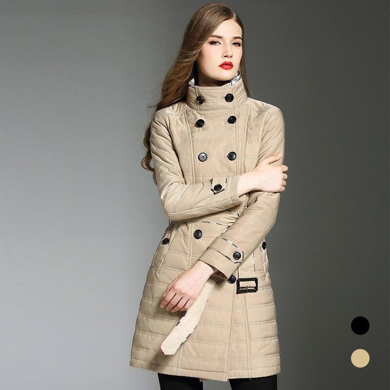 BURDULLY 2018 Coat Women's   Parkas   Warm Coat Medium Length Warm Cotton-padded Jacket Winter   Parkas   Coat Plus size XXL Thick Top