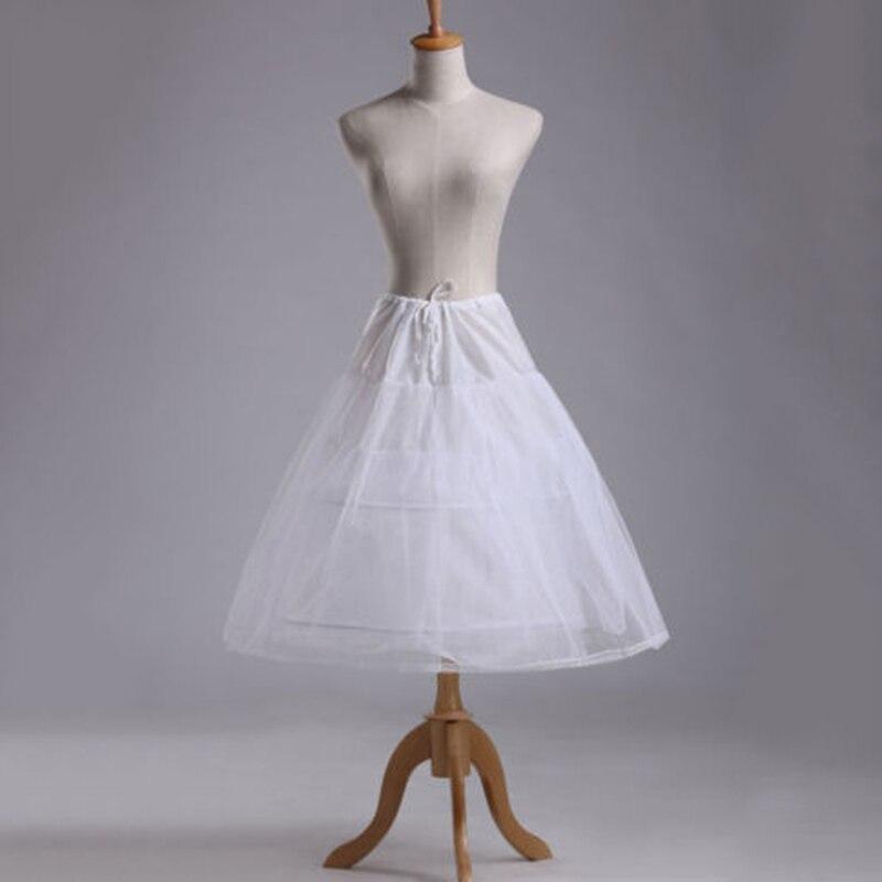 2 Hoop Weiße Kurze Hochzeit Petticoat Unterrock Krinoline Blumenmädchen Kleid Zubehör Slip