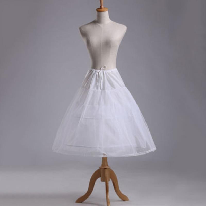 2 hoop White Short Wedding Petticoat Bridal Underskirt Crinoline Skirt Dress