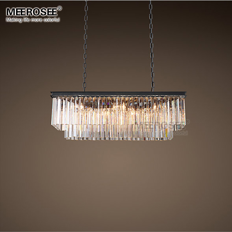 Modern rectangle pendant lights crystal hanging lustre de cristal modern rectangle pendant lights crystal hanging lustre de cristal lamp dining room foyer pendant lighting 100 guarantee in pendant lights from lights aloadofball