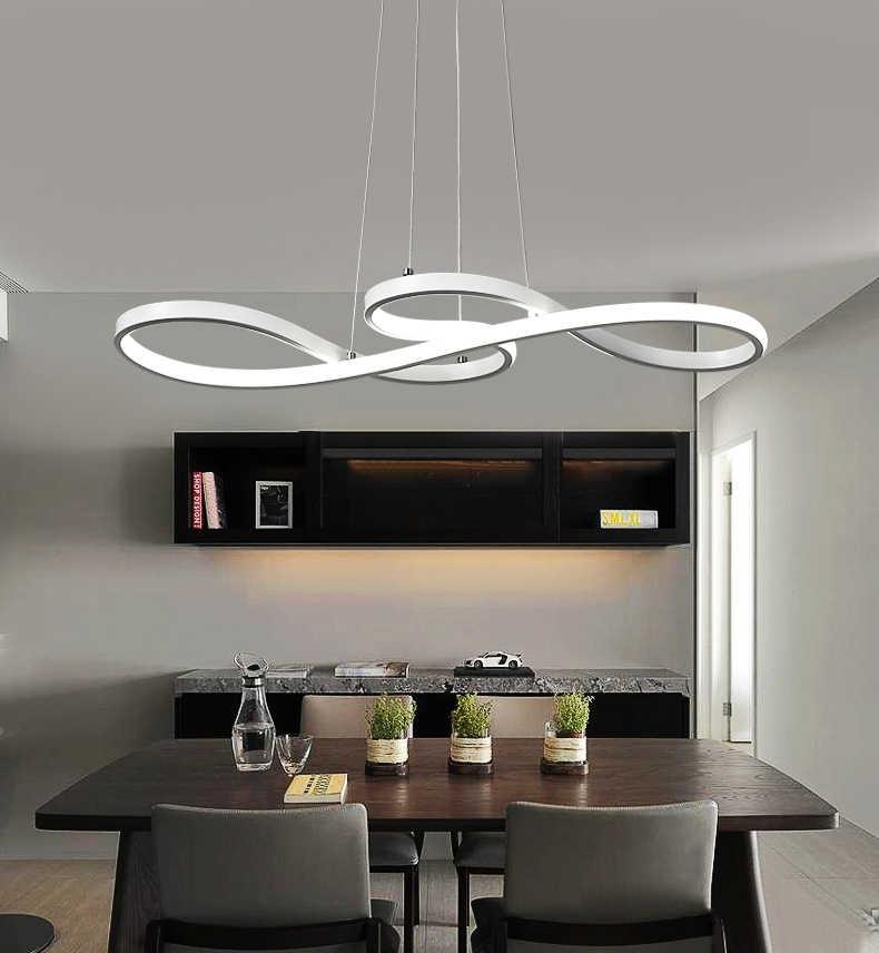 Минимализм DIY подвесной современный светодиодный подвесной светильник для столовой Бар подвесной светильник