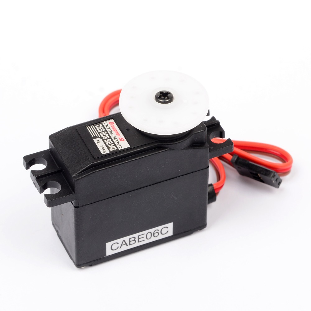 Graupner DES 808 BBMG High Speed Coreless 19.5mm Digital Servo Gear Metal Servo Micro Servo For Boat Car Plane Helicopter superior hobby jx pdi hv5212mg high precision metal gear full cnc aluminium shell high voltage digital coreless short servo