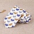Lazos Para Hombre Corbatas Gravatas Mantieqingway Marca de Algodón Floral de La Boda de Negocios Vestidos Delgados Flaco Impreso Pañuelo Corbata