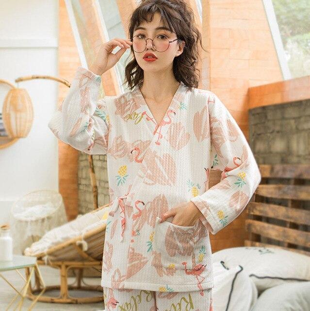 3e9694d19d7a2 Nursing Pajamas Autumn And Winter Maternity Pajamas Fashion Cotton Soft Breastfeeding  Sleepwear Pregnancy Clothes Homewear. sku: 32997071337