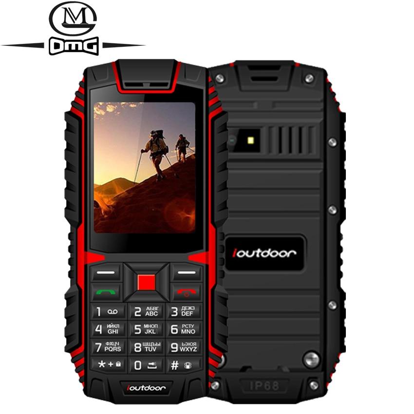 Ioutdoor T1 Russian keyboard IP68 Waterproof shockproof mobile phone wireless FM outdoor cell phones Dual sim