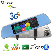 Big discount SLIVERYSEA 3G Car Camera DVR GPS WIFI Bluetooth Dual Lens Rearview Mirror Video Recorder Full HD 1080P Automobile DVR Dash Cam