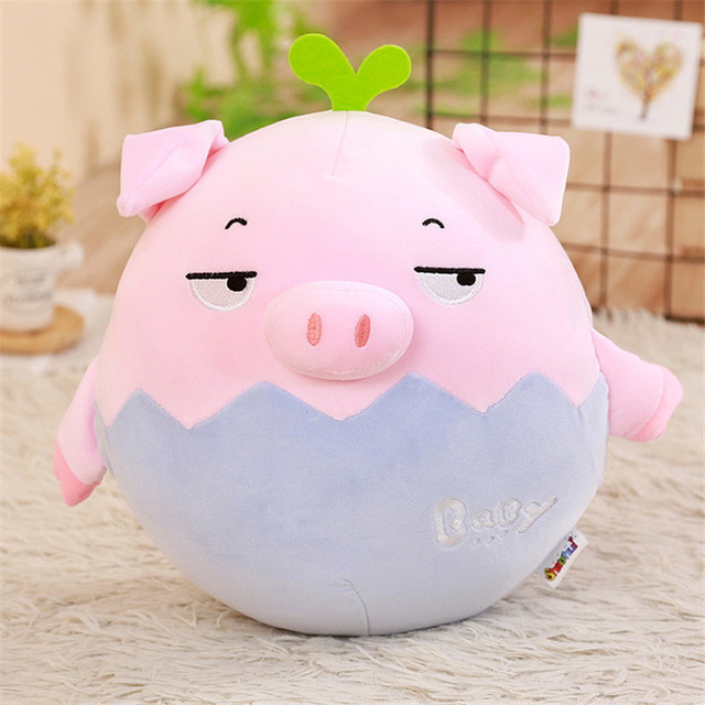 1pc 23/35cm Kawaii Fat Pink Pig Plush Pillow Stuffed Cute Animal Hand Warmer Couple Pig Toys for Children Kids Girls Gift
