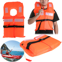Universal Adjustable Size Life Vest Polyester Life Jacket Foam Flotation Swimming Boating Surfing Safety Vest Jacket