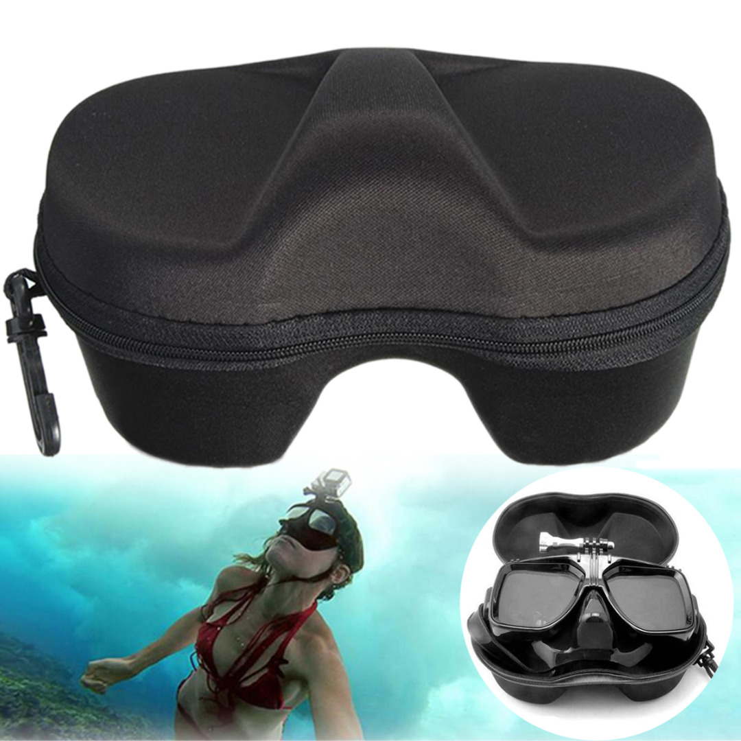 High Quality Black Micro Fiber Diving Mask Scuba Glasses Case Box Protector Diving Swimming Glasses Safety Container Organizer