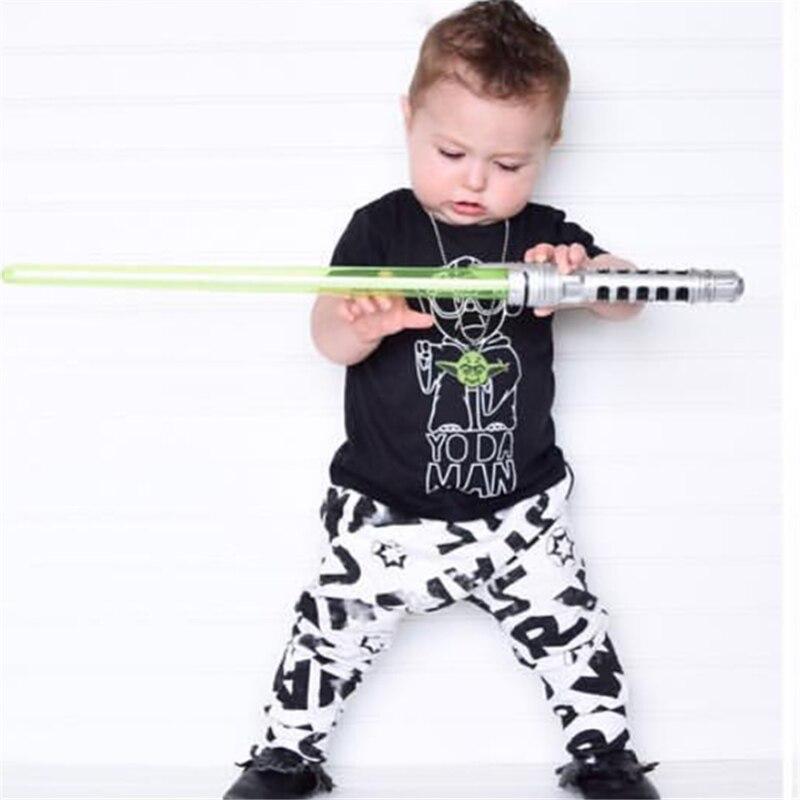 Summer fashion baby boy clothing set short sleeve black ...