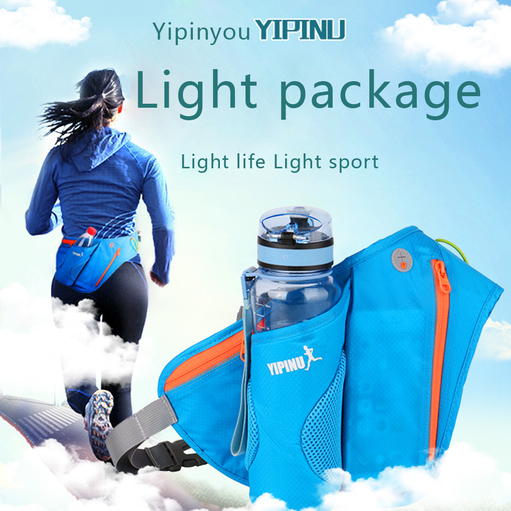 A0NIJIE YIPINU Women Men Outdoor Sports Kettle Waist Bag Adjustable Strap Cycling Running Hiking Bags Chest Pack Shoulder Pouch