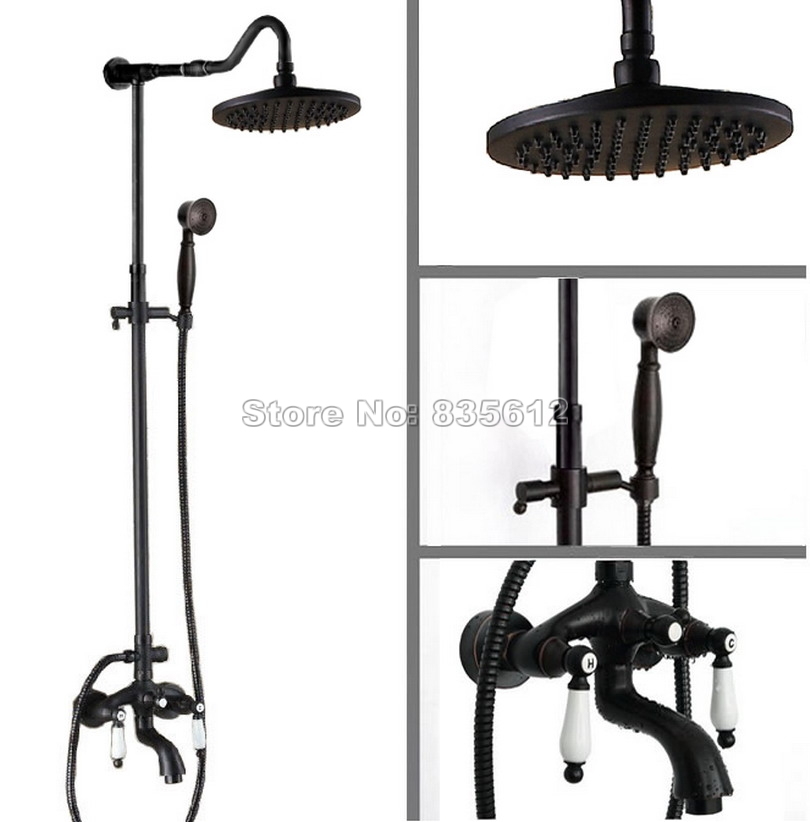 Aliexpress.com : Buy Black Oil Rubbed Bronze Bathroom Rainfall ...