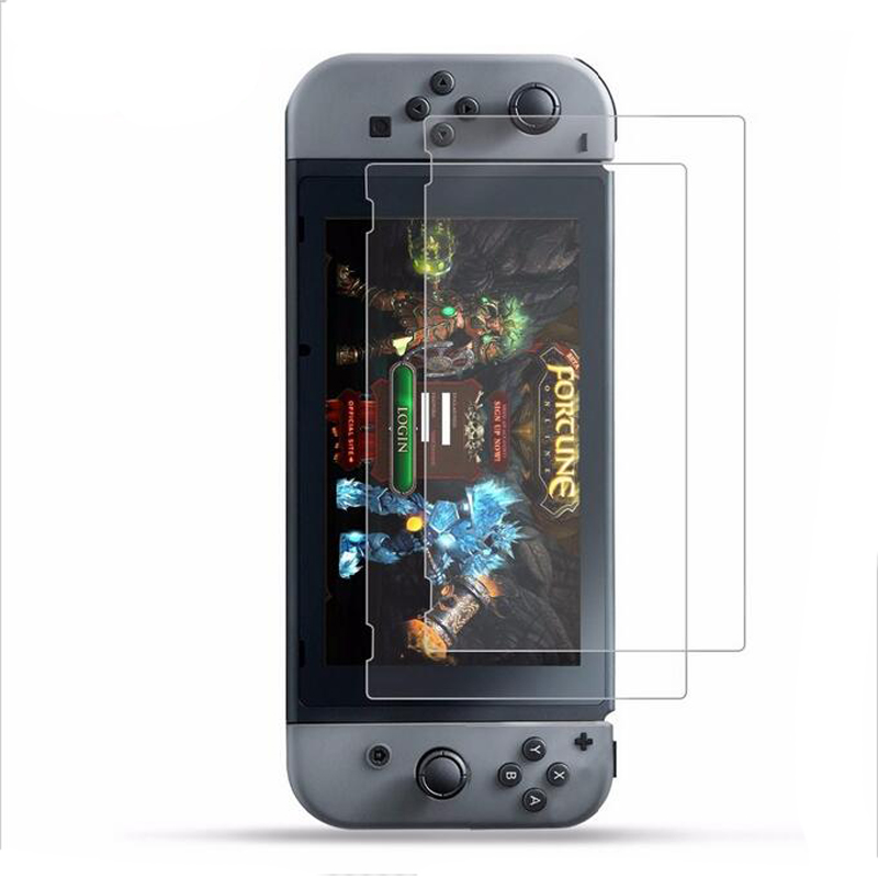 все цены на 2PCS Tempered glass Ultra Clear Full HD Screen Protective Film Surface Guard for Nintend Switch NS Console Protector Cover Skin