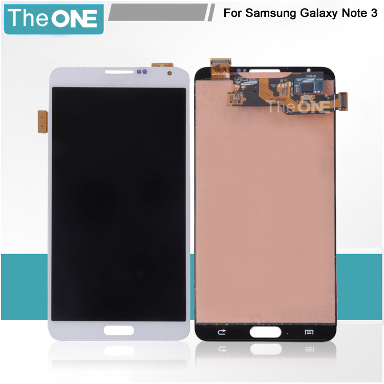 DHL free shipping Gray/white LCD screen Assembly replacement+glass digitizer screen for samsung note 3 N9005 100% original