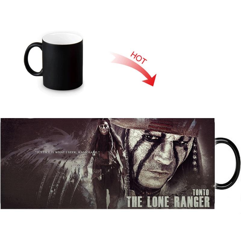 Custom Photo Magic Morphing Mugs Johnny Depp Heat Color Changing Morph Mug 350ml/12oz Coffee water Milk Cup DIY Gift