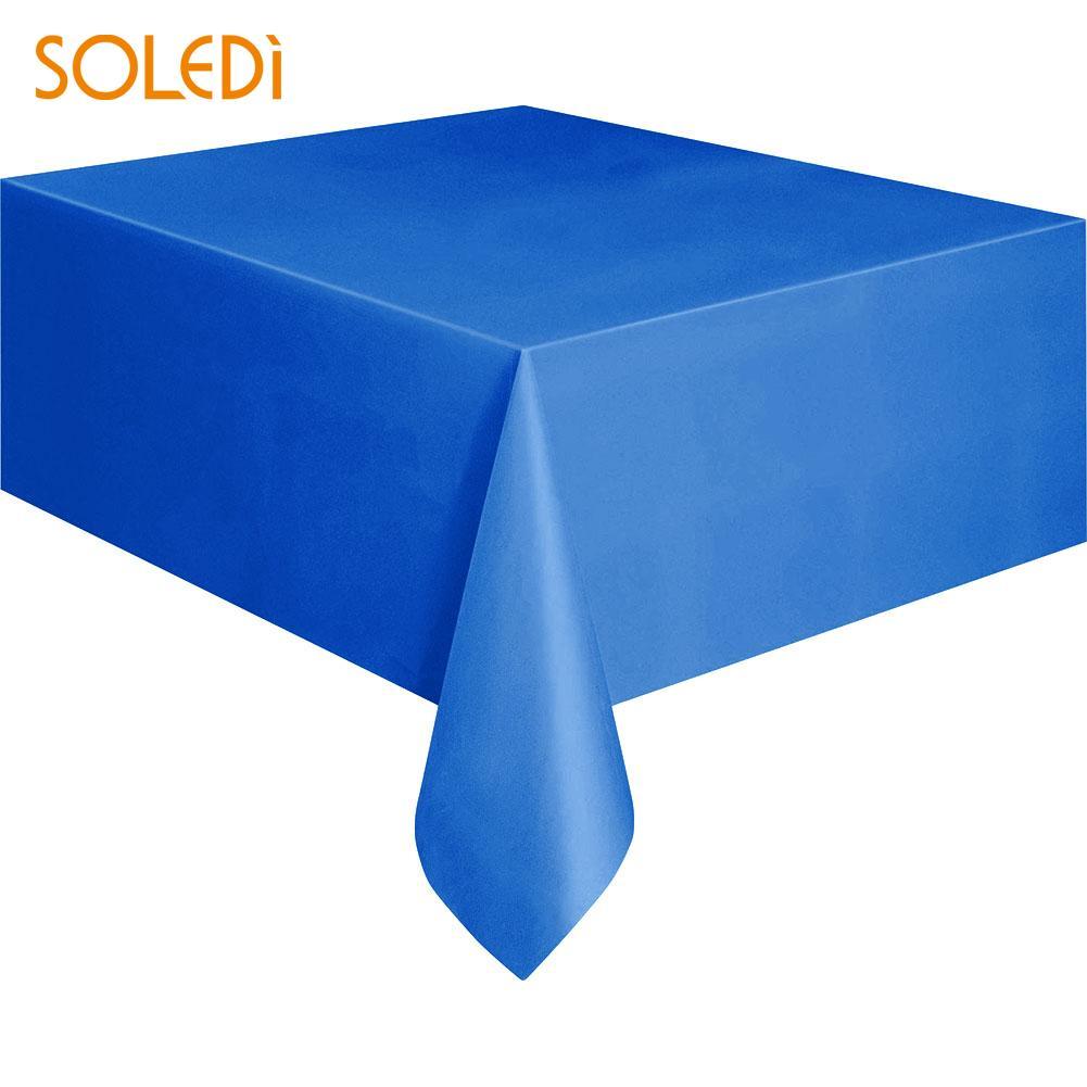 SOLEDI 20 цветов мягкий настольный бегун скатерть пластиковые товары для дома одноразовая скатерть для стола украшение стола - Цвет: dark blue