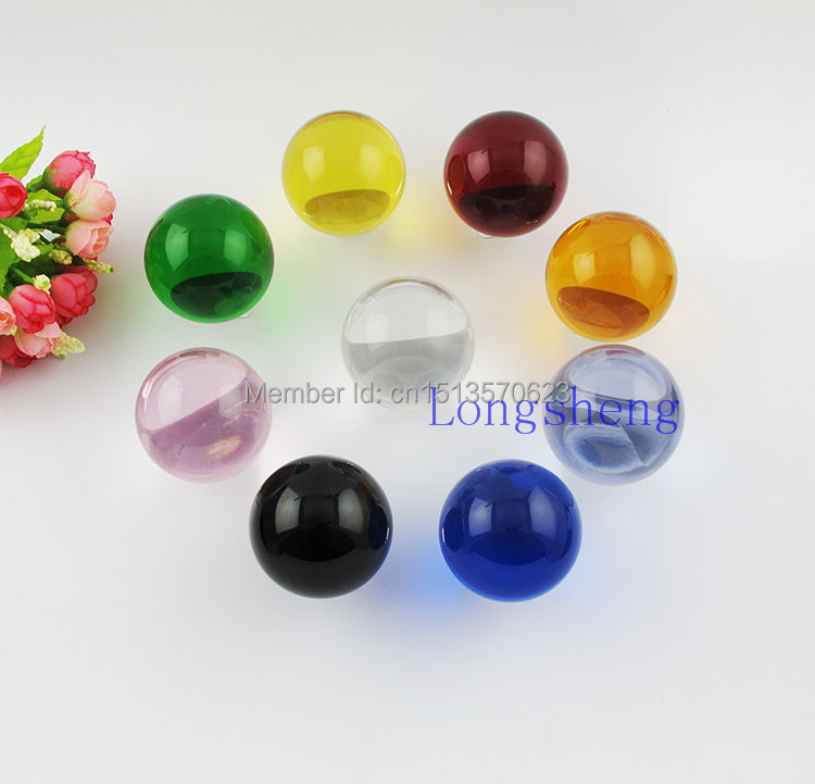 9pcs 9 Colors 60mm Crystal balls set crafts Fashion holiday and wedding decorative gift craft feng