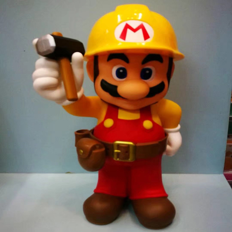 Free Shipping Super Mario Action Figure 30th Anniversary Mario Repairman Doll PVC figure Toy Brinquedos Anime 30CM