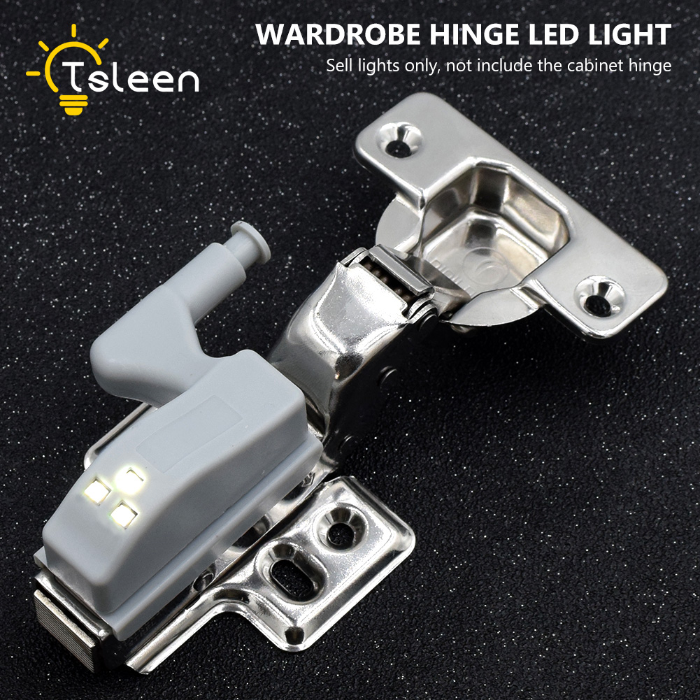 TSLEEN Cheap Cabinet Cupboard Closet 0.2W Inner Hinge LED Sensor Light For Wardrobe Modern Home Kitchen Living Room Night Light