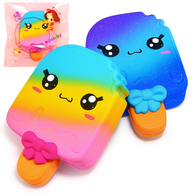 Us 813 Cute Galaxy Popsicle Squishy Jumbo Squishies Slow Rising Cream Scent Original Package Kids Toy Gift In Mobile Phone Straps From Cellphones