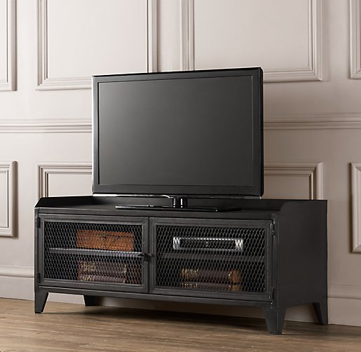 Iron Retro TV Cabinet Industrial Loft Style Living Room TV Cabinet Locker  Nordic American Expression Storage
