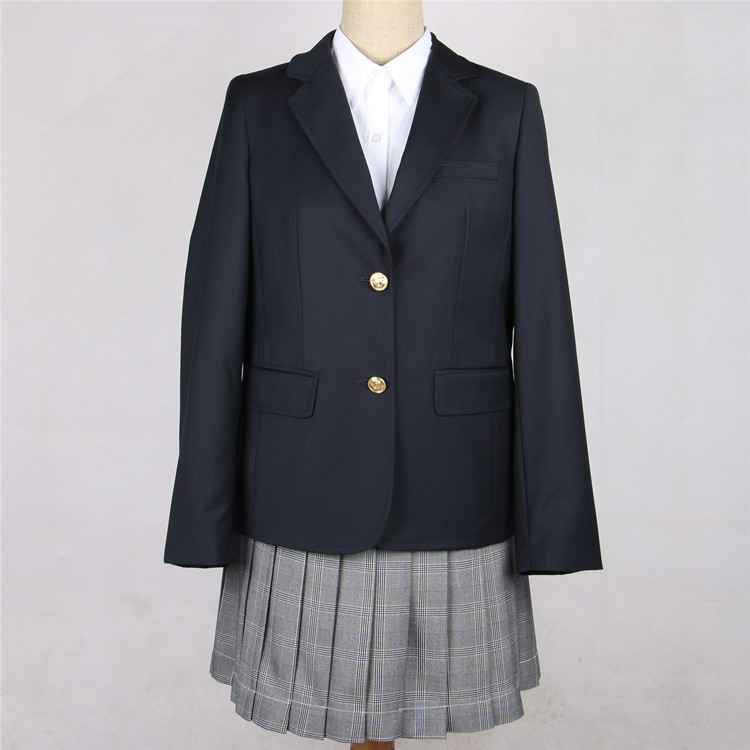 Japan School Uniforms Coats Female Student Suit Jacket Spring Autumn New British Campus School Uniform Jacket
