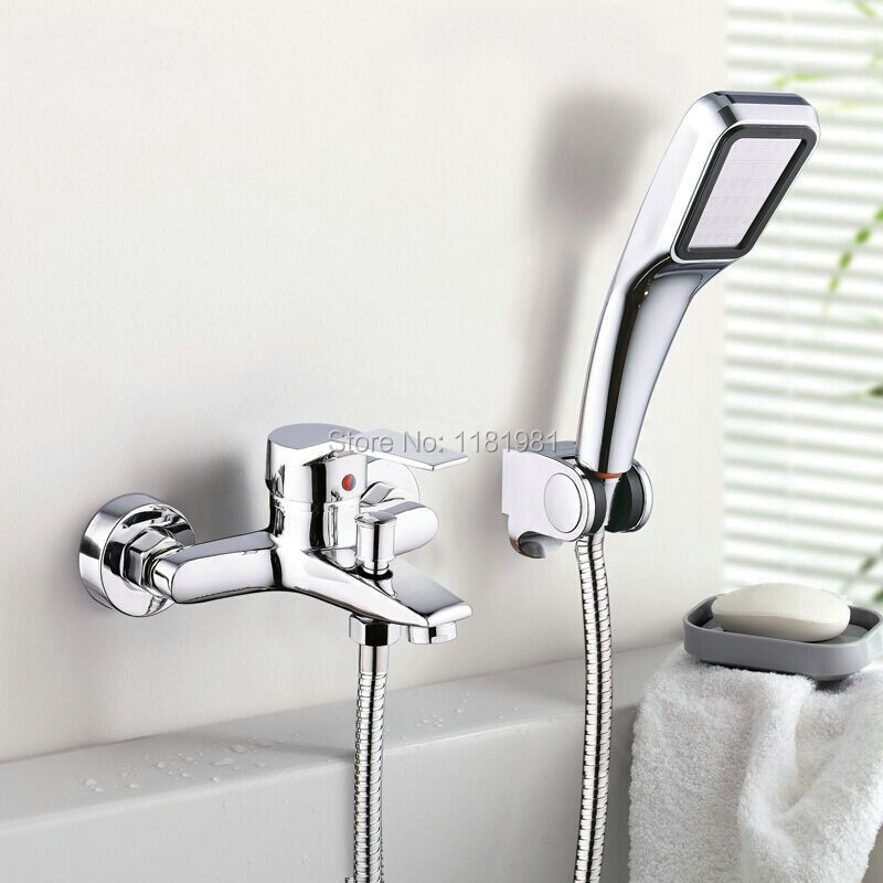 Hot selling wall mounted single handle two holes contemporary bath tub faucets C3037