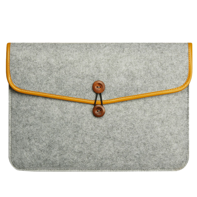 Felt <font><b>Sleeve</b></font> <font><b>Laptop</b></font> Case Cover Bag for Apple MacBook Air Pro 11inch/ 12inch/ <font><b>13inch</b></font>/ 15inch Dropshipping image