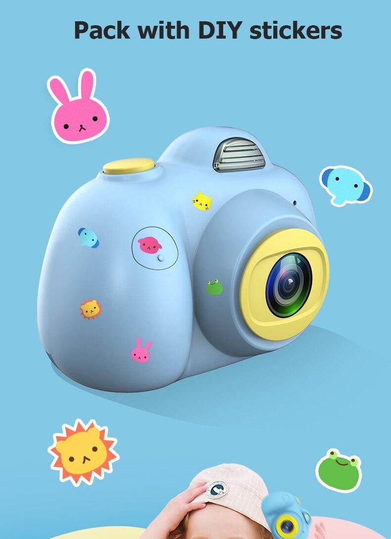 Enfant en bas âge jouets 8MP hd caméra éducative mini caméra photo numérique bébé couleur Mini LSR caméscope enregistreur vidéo Support TF - 6