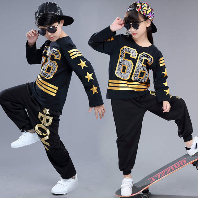 35dad29c0 Online Shop Cotton Child Hip Hop Dance Costume Boy Jazz Dance ...