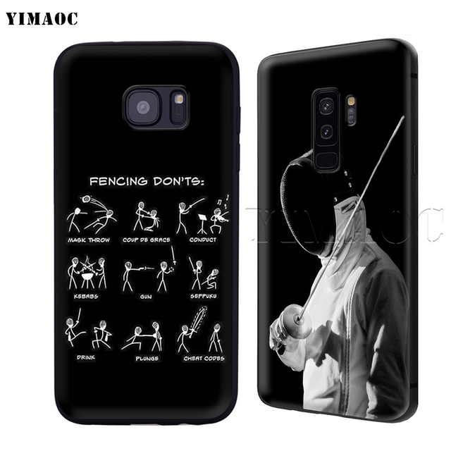 YIMAOC Fencing Foil Sabre Epee Soft Silicone Case for Samsung Galaxy S6 S7 Edge S8 S9 Plus A3 A5 A6 Note 8 9