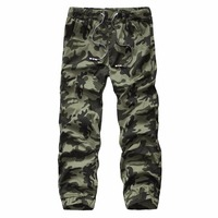 2016 Top Quality Fashion Men Camouflage Cargo Pants Slim Fit Outdoor Sport Trousers 28 38 CYG74