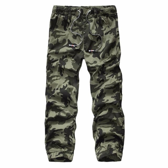 2016 top qualidade moda masculina camuflagem carga calças slim fit calças 28-38 CYG74