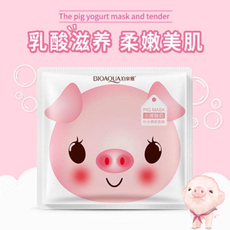 Bioaqua Yogurt Piggy Face Mask Skin Care Anti Aging Moisturizing Oil Control Whitening Korean Mask #4