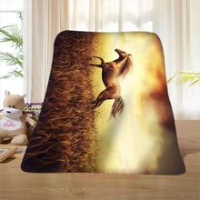 P#125 Custom Horse#34 Home Decoration Bedroom Supplies Soft Blanket size 58×80,50X60,40X50inch SQ01016@H+125